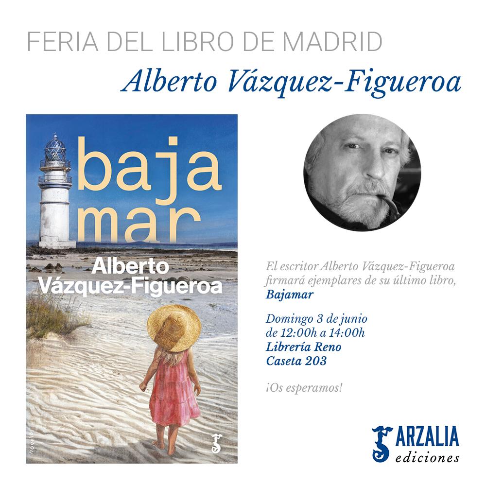 Alberto Vázquez-Figueroa Feria del Libro Madrid 2018