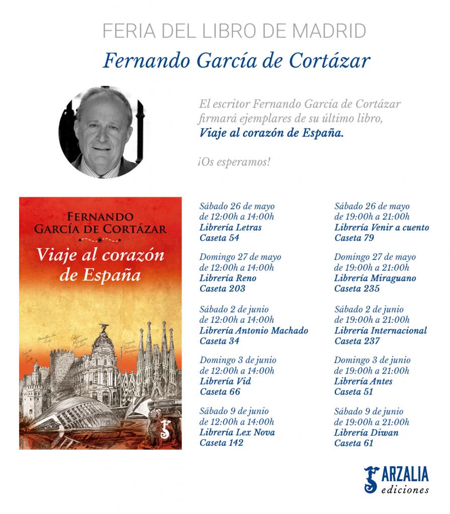 Fernando García de Cortázar Feria del Libro Madrid 2018